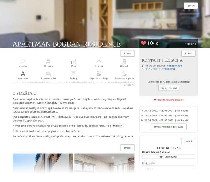 zlatibor apartmani prezentacija